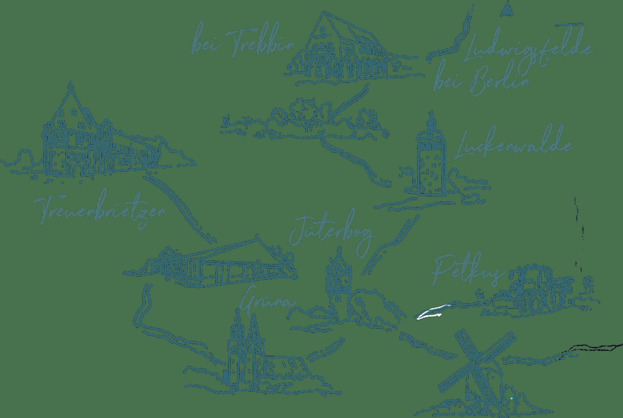 gezeichnete Umgebungskarte Neumarkt Fleischerei